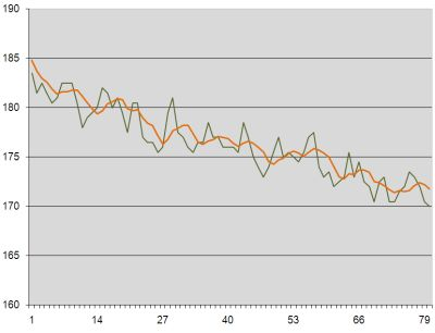 Weight loss graph week 13